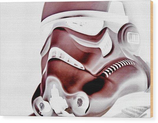 Stormtrooper Helmet 23 Wood Print by Micah May