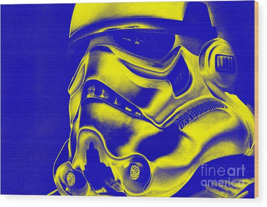 Stormtrooper Helmet 29 Wood Print by Micah May