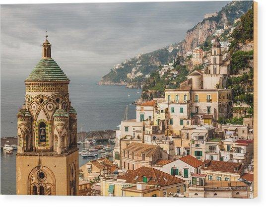 Stormy Amalfi Wood Print
