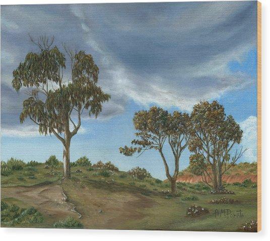 Stormy Eucalyptus Wood Print
