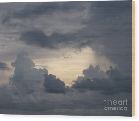 Stormy Evening Wood Print by Gayle Melges