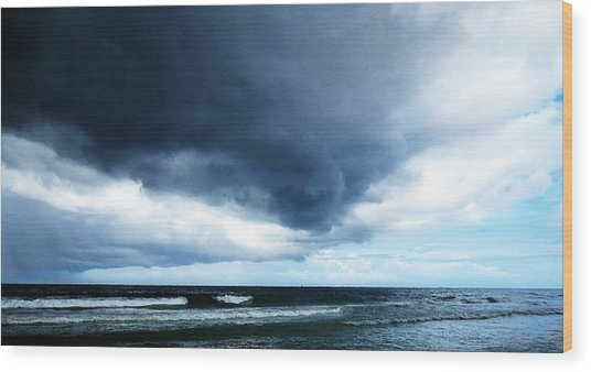 Stormy - Gray Storm Clouds By Sharon Cummings Wood Print