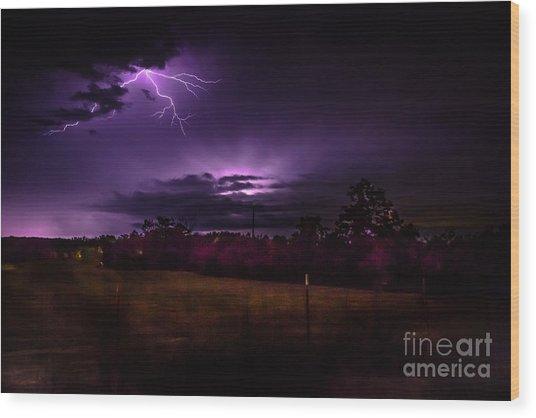 Stormy Wood Print