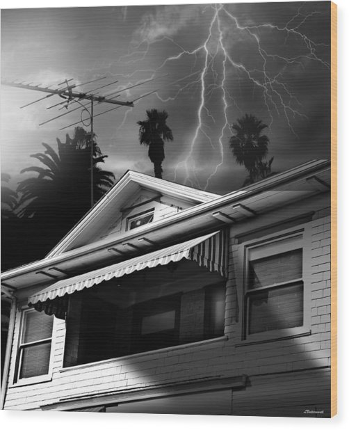 Stormy Monday Wood Print by Larry Butterworth