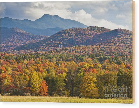 Stormy Mount Mansfield Wood Print