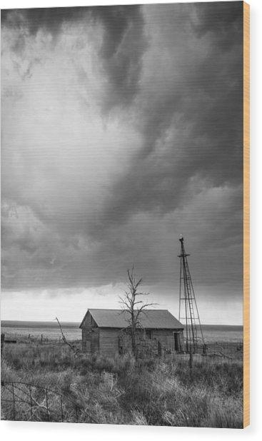 Stormy Past Wood Print
