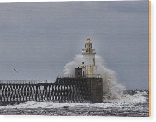 Stormy Sea At Blyth Wood Print