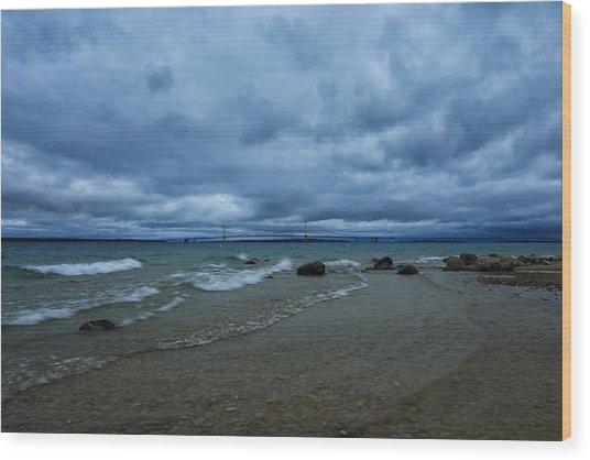 Stormy Straits Wood Print