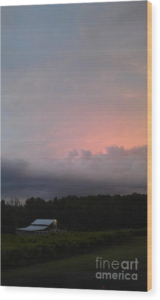 Stormy Sunset Wood Print by Gayle Melges