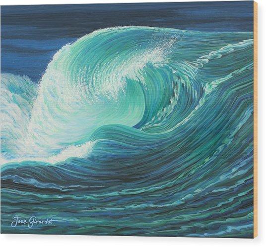 Stormy Wave Wood Print