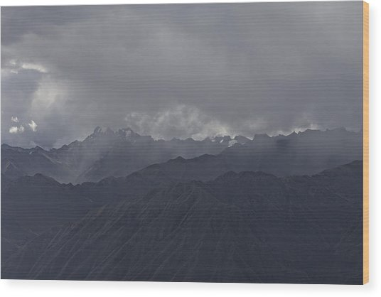 Storm Over The Andes Wood Print