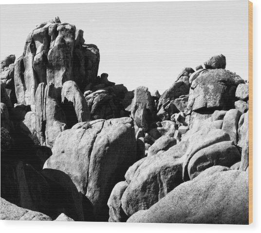 Story Told By The Rocks Wood Print by Carolina Liechtenstein