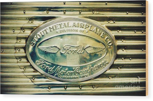 Stout Metal Airplane Co. Emblem Wood Print