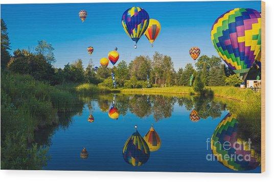 Stoweflake Hot Air Balloon Festival Wood Print