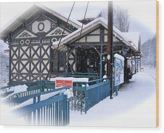Strafford Station Wood Print