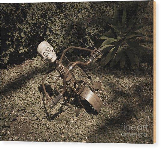 Strange Skull Wood Print
