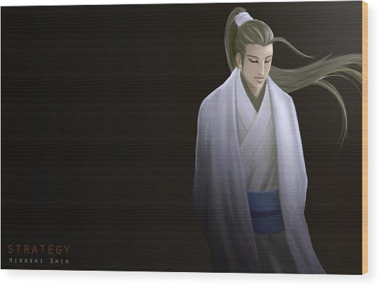 Strategy Ver.b Wood Print by Hiroshi Shih