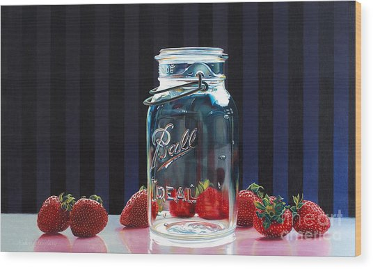 Strawberry Jam Wood Print by Arlene Steinberg