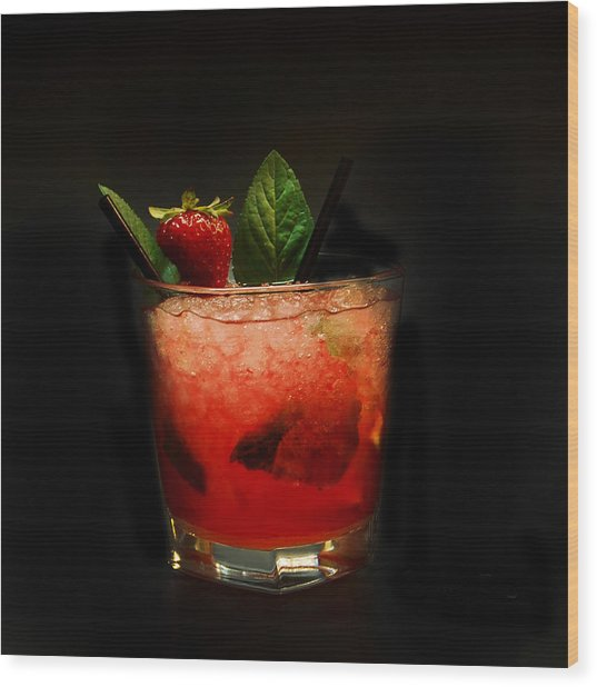 Strawberry Mojito Wood Print