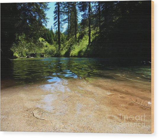 Stream Of Love Wood Print