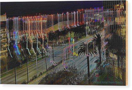Wood Print featuring the digital art Street Art II by Visual Artist Frank Bonilla