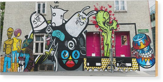 Street Art In Austria  Wood Print by Pedro Nunez