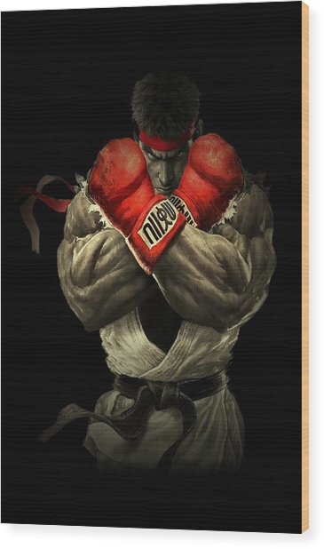 Street Fighter Wood Print