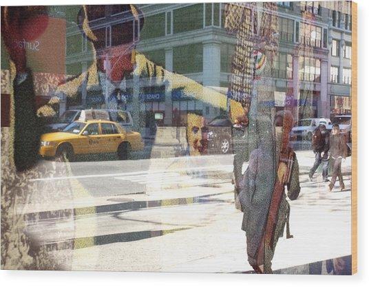 Street Fighting Man Wood Print by Heidi Horowitz
