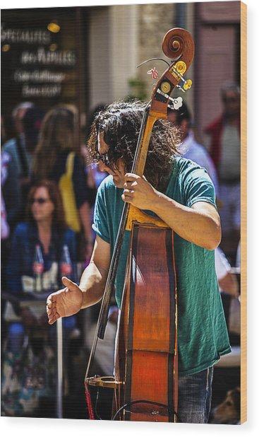 Street Jazz - St. Remy Style Wood Print