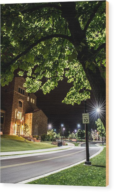 Street Lights In Slow Ville Wood Print