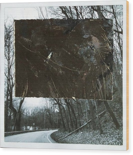 Street Wood Print by Marie Tosto