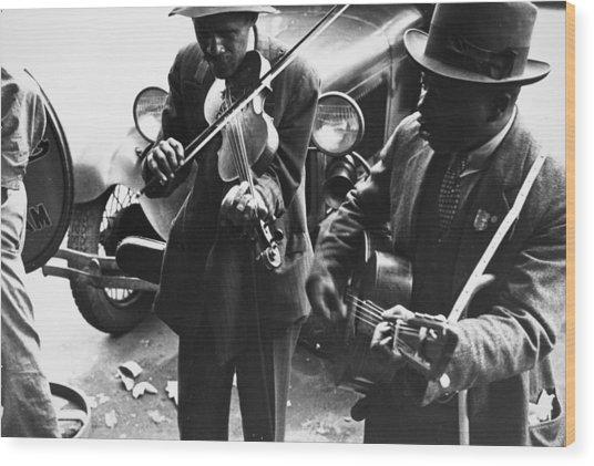 Street Musicians, 1935 Wood Print by Granger