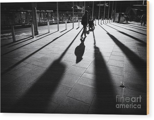 Street Shadow Wood Print