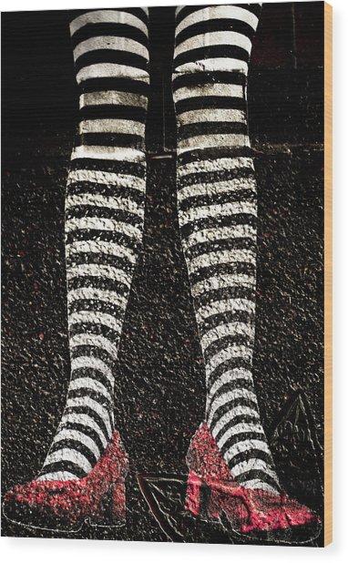 Street Shoes Wood Print
