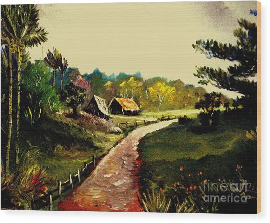 Street  To Countryside Wood Print