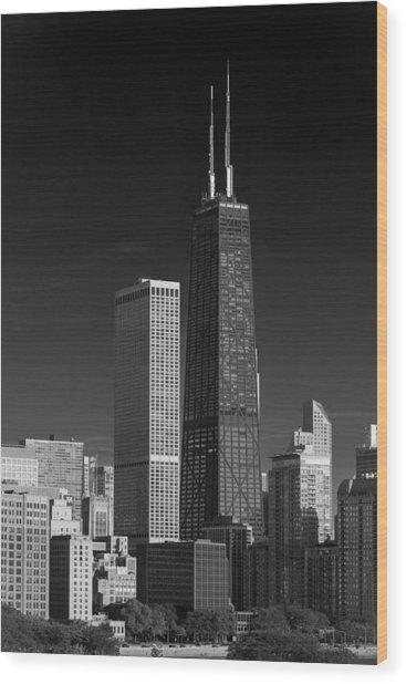 Streeterville Chicago Illinois B W Wood Print