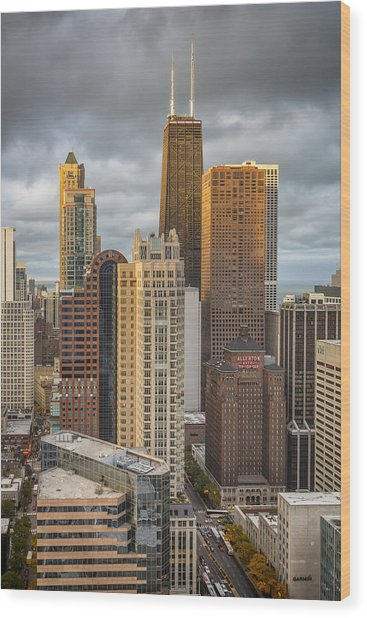 Streeterville From Above Wood Print
