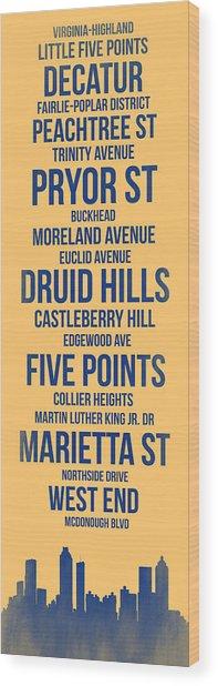 Streets Of Atlanta 3 Wood Print
