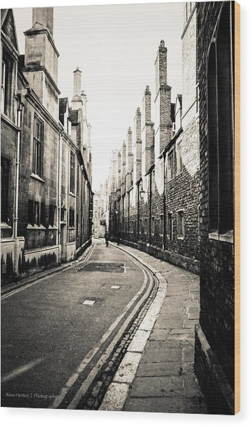 Streets Of Cambridge - For Eugene Atget Wood Print