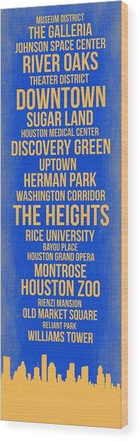 Streets Of Houston 3 Wood Print