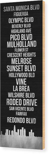 Streets Of Los Angeles 2 Wood Print