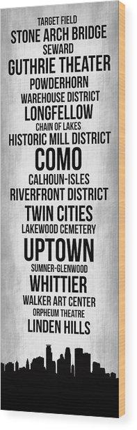 Streets Of Minneapolis 4 Wood Print
