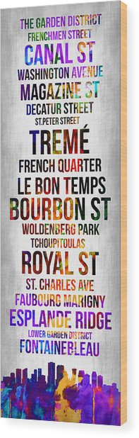 Streets Of New Orleans 1 Wood Print