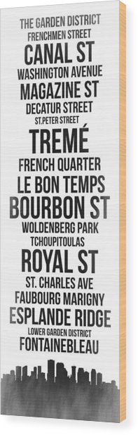 Streets Of New Orleans 3 Wood Print