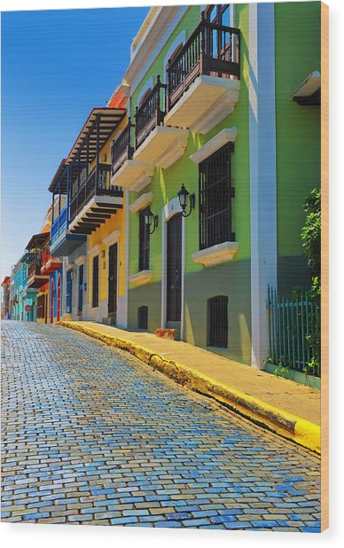 Streets Of Old San Juan Wood Print