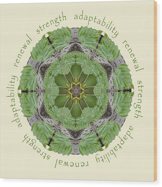 Strength Mandala 1 Wood Print