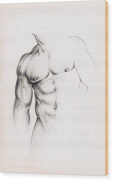 Strength Wood Print by Rudy Nagel