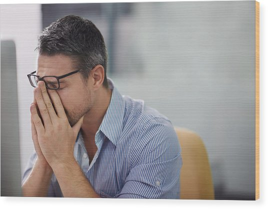 Stressful Day At The Office Wood Print by PeopleImages