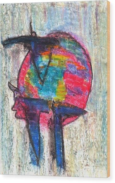 Strict Hope Wood Print by Yuri Lushnichenko