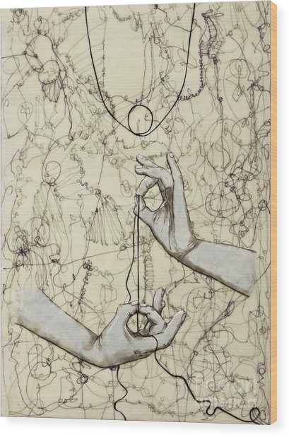 String Theory - This Moment Wood Print